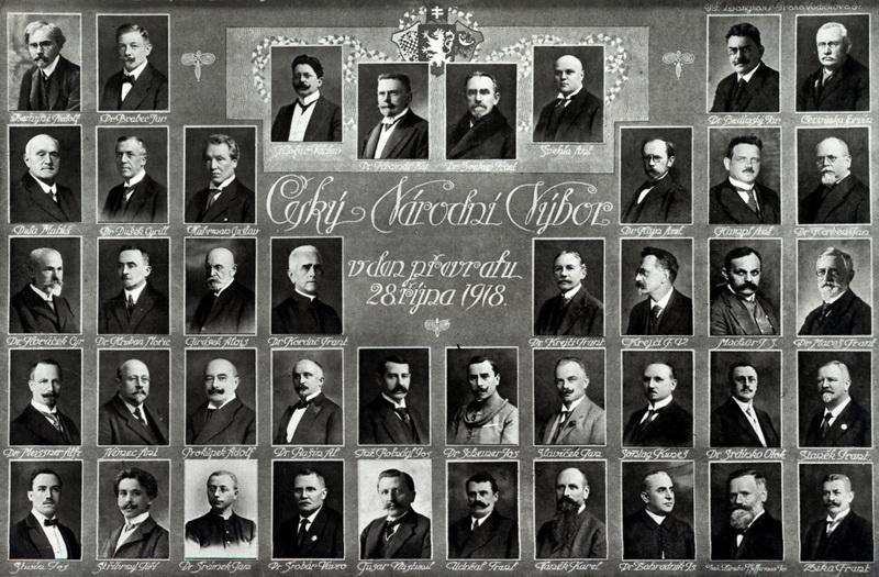Český národní výbor v den převratu 28. října 1918.