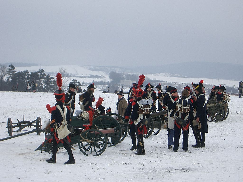 Reenactment - bitva u Slavkova. Jean-Claude Brunner / Wikimedia.