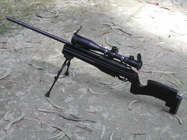 "Vitor Teixeira's repeating rifle Sako TRG 42. After 2011 change in Portugues gun laws, the gun was reclassified as a ""war weapon"" and Vitor had to sell it off."